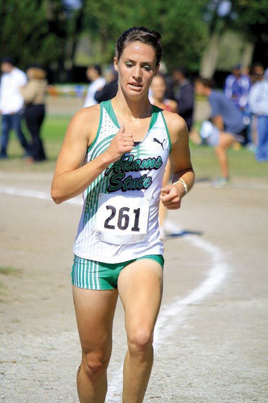 Alicia Nelson, a 2009 Moffat County High School graduate, competes during her junior cross-country season at Adams State College. Nelson finished second in the NCAA Division II women's national championship race Nov. 19 in Spokane, Wash. She said her goal for her senior season is to take home the national title.