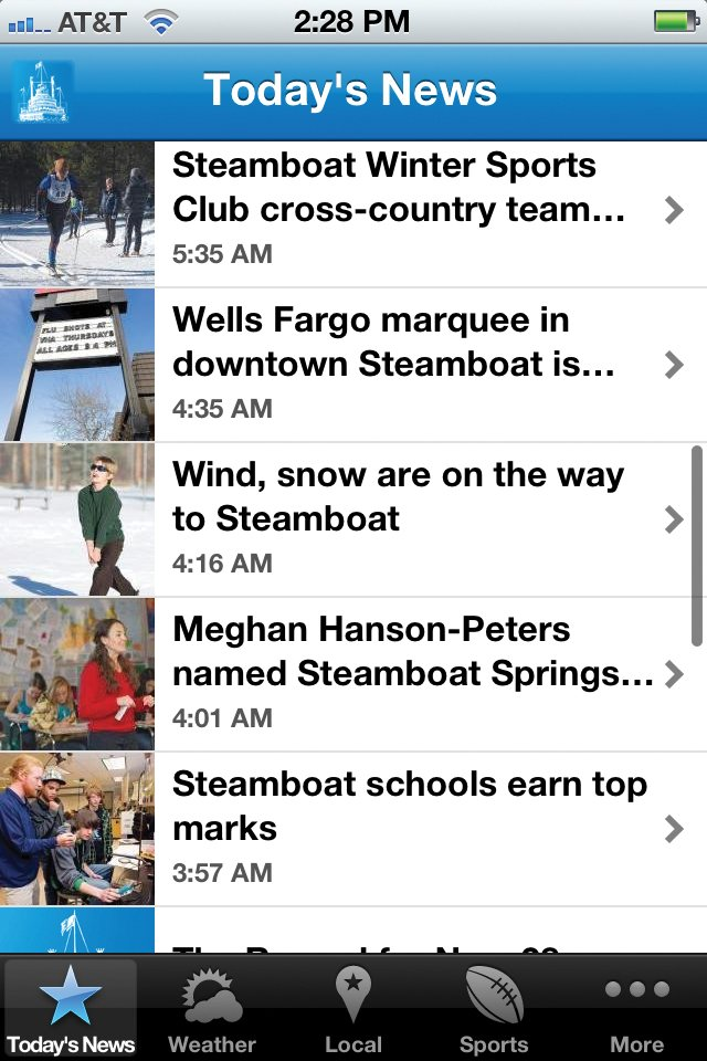The Steamboat Today&#39;s free app now is available in Apple&#39;s App Store and the Android Market.