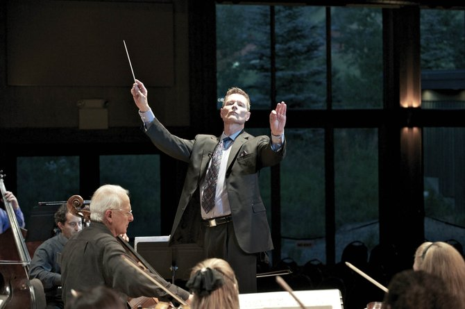 Steamboat Symphony Orchestra musical director Ernest Richardson leads the ensemble in the September concert that kicked off the organizations 20th anniversary season. The orchestra hosts its annual holiday concerts this weekend at 7 p.m. Saturday and 5 p.m. Sunday at Strings Music Pavilion.