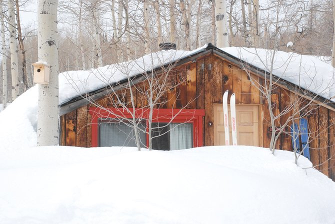 The Columbine Cabins, which now are on the market for $1.6 million, were built to withstand the deep snow of North Routt.