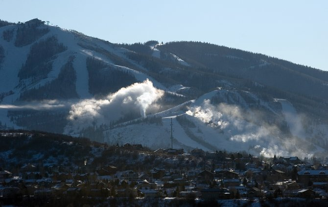 The snowmaking guns are expected to be running nonstop the next few days as arctic air brings colder temperatures to the area.