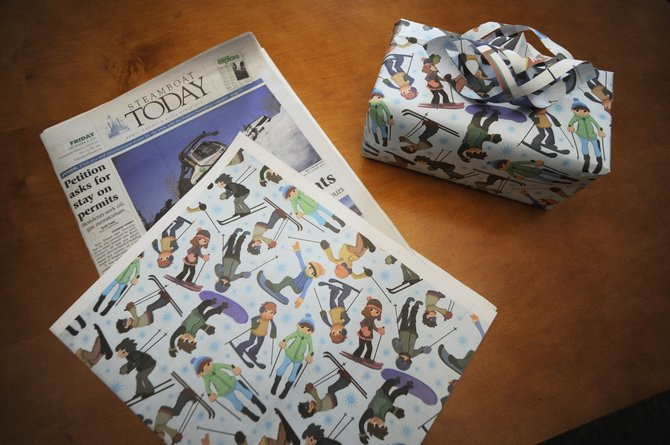 The Steamboat Today will be wrapped in wrapping paper several times between now and Christmas. Readers can use the wrap to wrap gifts. Shown is the wrapping paper that will be used on Saturday's edition of the newspaper.