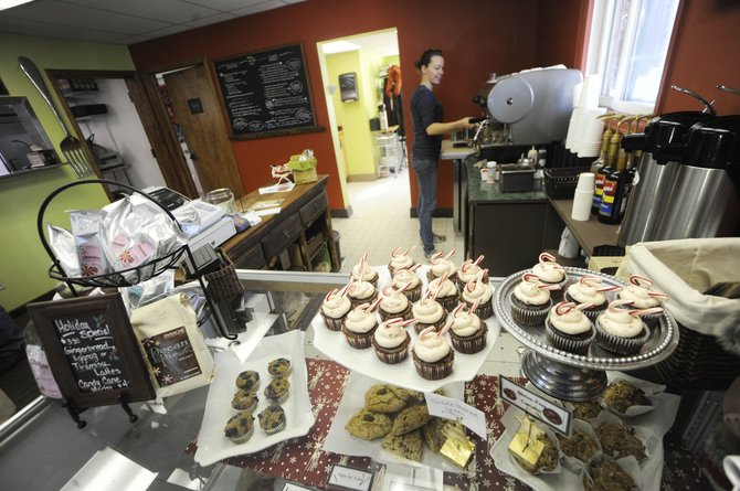 Mountain Brew employee Rose Bradley works Saturday at the coffee shop on Oak Street. The business is one of three that participated in the city of Steamboat Springs micro-grant program. 