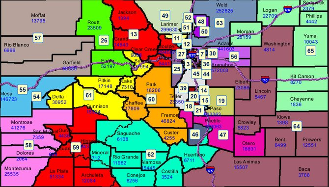 Colorado State Senate Districts Map Book Covers