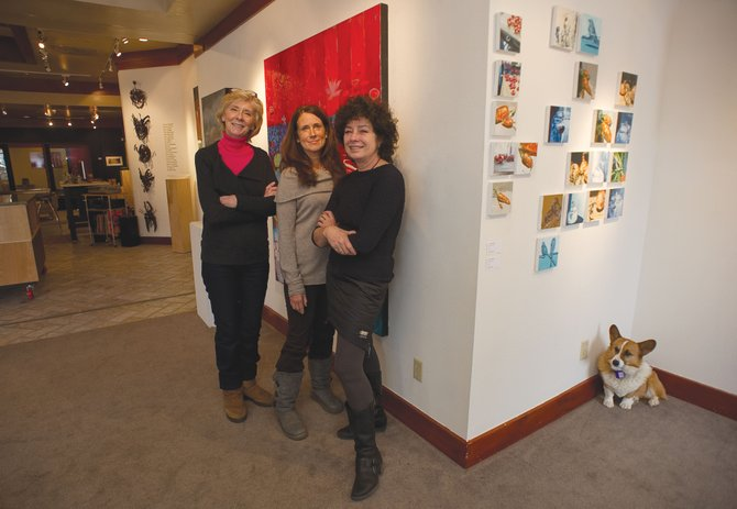 Local artists, from left, Pat Walsh, Diane Cionni and Susan Schiesser are among the seven that will be featured at RED Contemporary Gallery for its season opening.