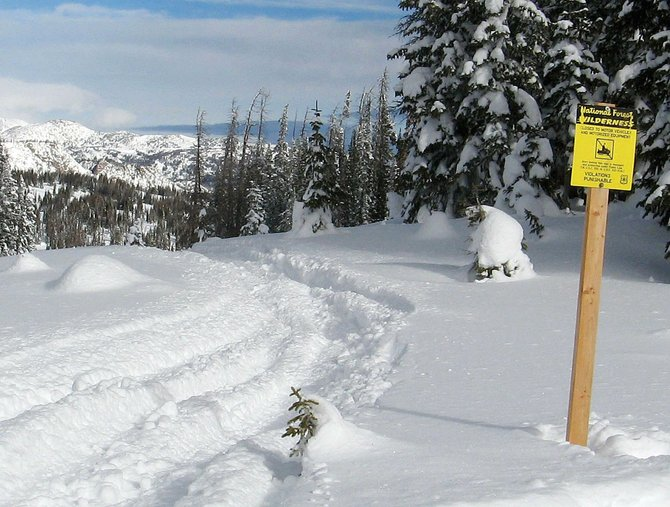 U.S. Forest Service officials are reminding snowmobilers to keep out of designated wilderness areas. The minimum fine for snowmobilers caught riding in wilderness areas is $525 and can go all the way up to $5,000 and six months in jail.