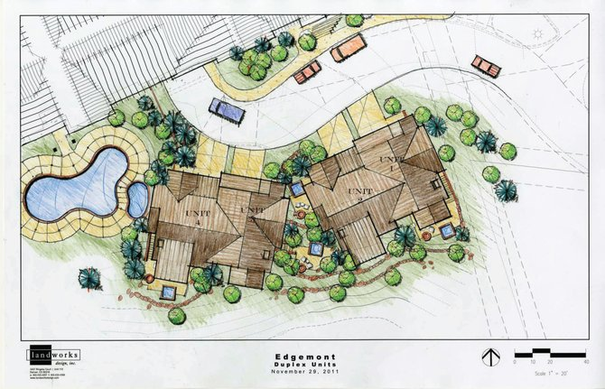 Shown is the site plan for the planned Edgemont townhome development near Steamboat Ski Area.