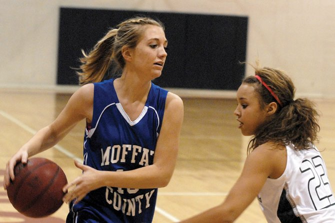 The Moffat County High School girls varsity basketball team used a hard-nosed defense Friday to defeat Montrose High School, 40-29, in the first round of the Black Canyon Classic at Montrose High School. Head coach Matt Ray said the team limited turnovers and didn't allow any fast-break points in a hard-fought battle.