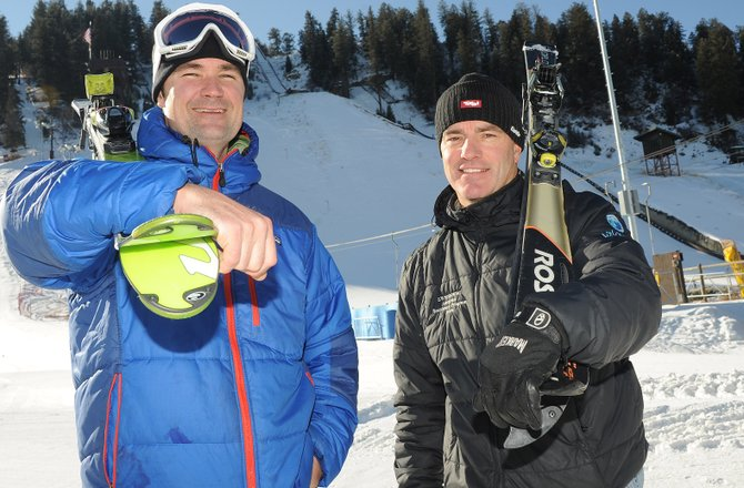 Tom Davis, left, and Scott Wither, both experienced Alpine ski racers, have taken over the Steamboat Springs Winter Sports Club's ski cross program. They said the lessons they've picked up elsewhere can be applied easily to ski cross.