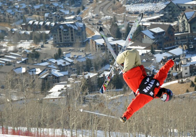 Skiers worked through a training session Sunday at Steamboat Ski Area ahead of a trio of moguls competitions, which begin today in Steamboat Springs.