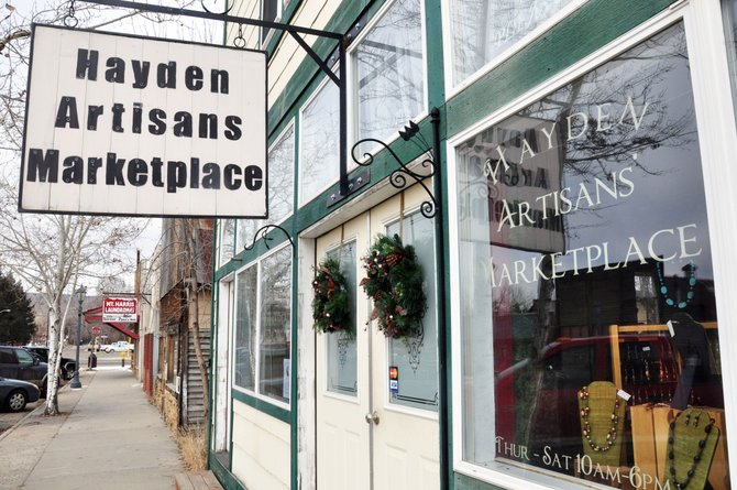 The Hayden Artisans Marketplace on South Walnut Street is closing Dec. 31. The business started showcasing the work of 30 Northwest Colorado artisans in December 2007 but today serves five.