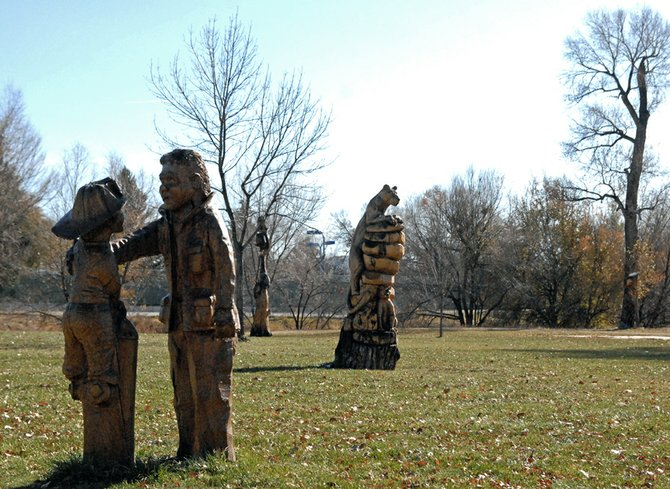 Whittle the Wood carvings are displayed in the open space commonly referred to as Craig City Park. The city has leased property from Veterans of Foreign Wars Post 4265 for more than 60 years, but negotiations on a new lease stalled in 2009. The city and VFW recently issued letters stating both parties would like to return to the negotiating table.