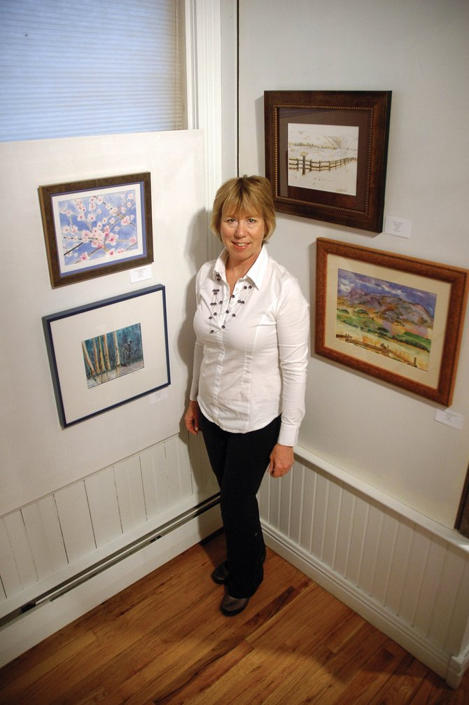 Local artist Grace Curé is one of 12 artists with work on display at the Depot Art Center. The show features four works per artist — one celebrating each season.