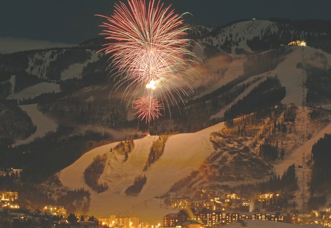 Steamboat Ski Area will help usher in the New Year with a fireworks celebration starting at about 7 p.m. Saturday.