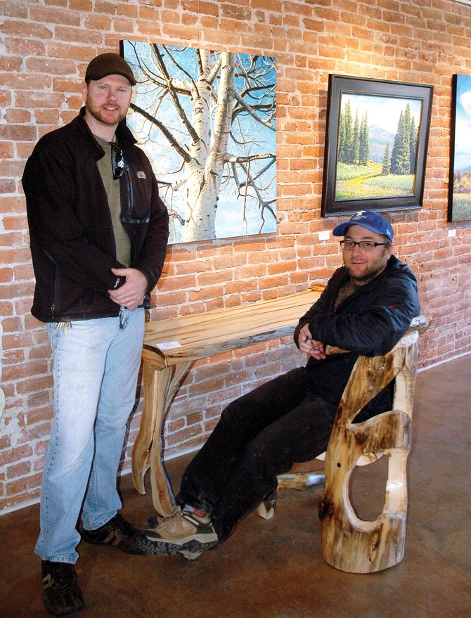 Painter Adam Zabel, left, and wood sculptor Matt Graves are featured artists this month at the Artists' Gallery of Steamboat. A reception takes place Friday during First Friday Artwalk from 5 to 8 p.m.
