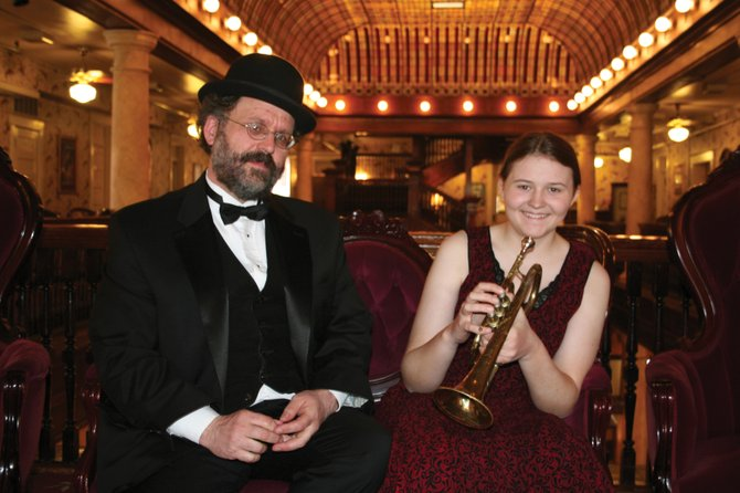 Rodney Sauer and his daughter Molly will perform live Thursday at Library Hall at Bud Werner Memorial Library, providing the live score of four silent film comedies as a part of the Silent Nights at the Library film series.