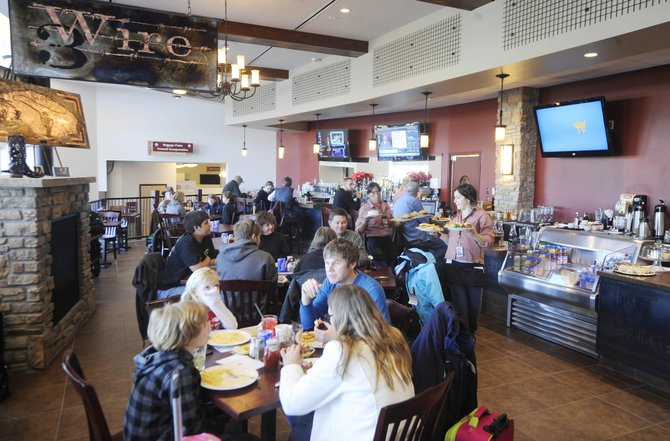 Yampa Valley Regional Airport's new Three Wire Bar and Grill nearly posted record revenue in December. Doris Mayhan, the airport's business manager, said Monday that the new restaurant and snack bar did $54,236 in total sales in its first month of business.