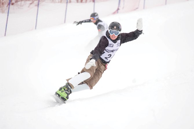 Steamboat Springs Alpine snowboarder Justin Reiter races in March 2010's Race to the Cup finals in Steamboat. Reiter last week made his first World Cup finals appearance in more than two years, qualifying at 15th in the parallel slalom race in Bad Gastein, Austria.