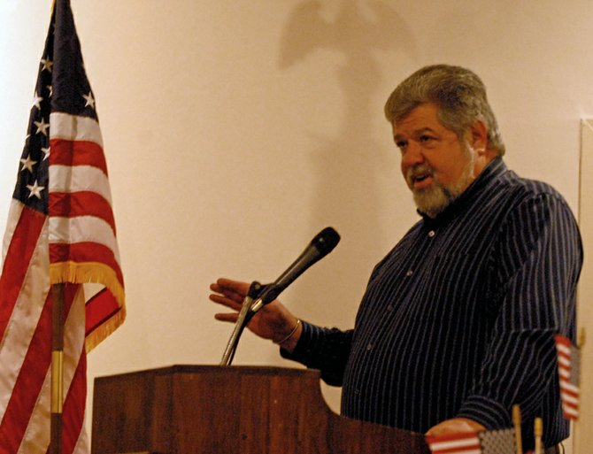 Dave DeRose, a former City of Craig mayor, announced his candidacy for the Moffat County Commission's District 1 seat Saturday night during the Moffat County Republican Party Lincoln Day Dinner.
