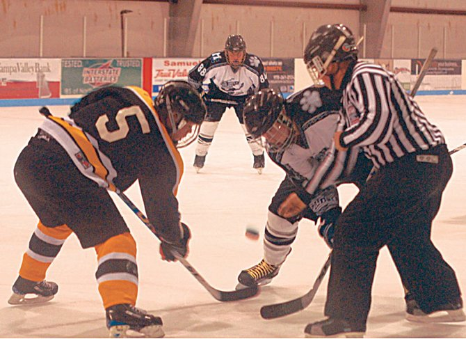 The Moffat County Bulldogs club hockey team lacked offensive scoring power Saturday and Sunday in Crested Butte, falling twice to Crested Butte and twice to Durango/Telluride. Head coach Rick Villa said his players played too passive offensively and needed to get more shots on goal.