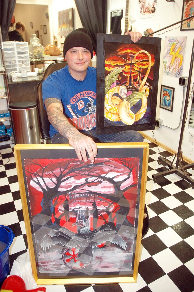 Denver tattoo artist Ian Rumley will be showing his work at local tattoo shop Body Graffix starting Friday at a reception from 5 to 8 p.m. during First Friday Artwalk.
