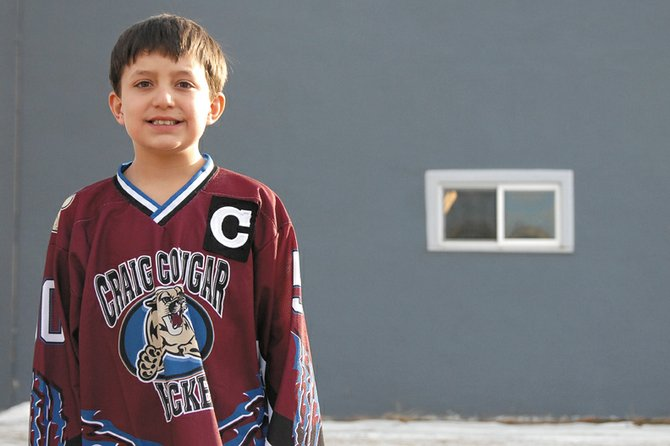 Hunter Beckett, 10, was selected by the Moffat County Commissioners to skate with the Colorado Avalanche during the team's warm-up before playing the Vancouver Canucks on March 24 at the Pepsi Center. Hunter said he is excited to skate with professional hockey players and to see if hockey is something he wants to pursue as he gets older.