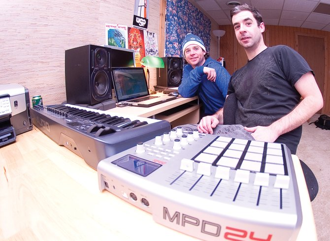 Tony Santora, left, and his brother Vince, known as DJ Theory and Vinja respectively, will perform at 9 p.m. Friday at The Tap House Sports Grill. The pair have been making electronic music since their teenage years.