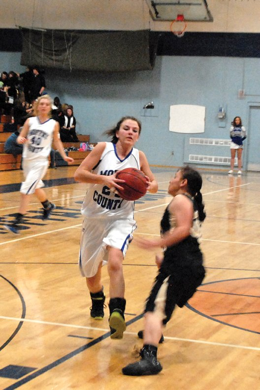 Melissa Camilletti, a Moffat County High School senior, led the MCHS girls varsity basketball team to a 48-36 victory Saturday in Palisade with a 16-point effort. The Bulldogs struggled to get shots to fall, but made 12 of 14 free throws in the fourth quarter to wrap up the win.