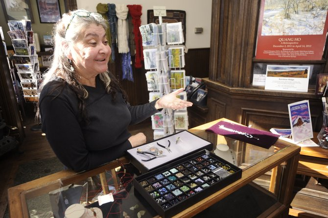 Sheila Weekly runs the gift shop at the Steamboat Art Museum and five years ago renewed her passion for making silk-knotted jewelry.