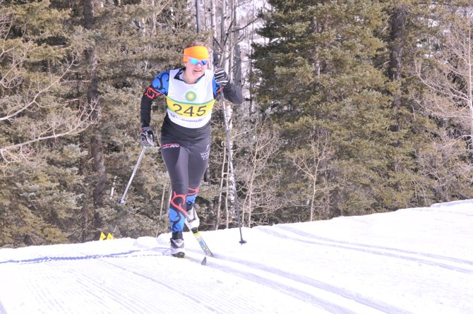 Steamboat Springs Winter Sports Club cross-country skier Mallory Richey competes in Durango during the weekend. The Winter Sports Club qualified a record 14 J2 and older skiers for the Junior Nationals in Soldier Hollow, Utah. The competition begins Monday.