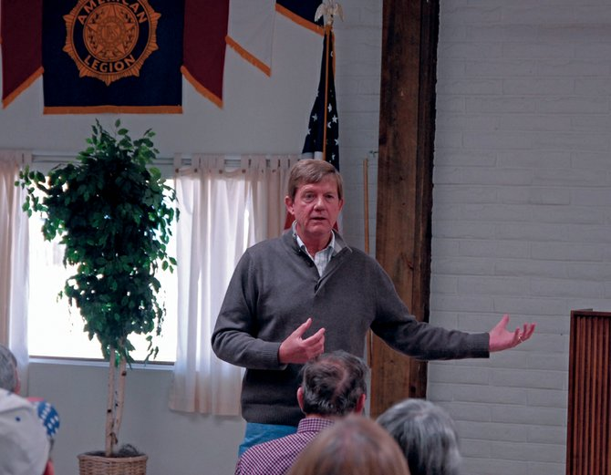 Third Congressional District Rep. Scott Tipton, R-Colo., appeared Saturday in Craig to host a town hall meeting with more than 50 local residents at American Legion Post 62, 1055 Moffat County Road 7. Tipton updated residents about legislative action in Washington, D.C., and fielded questions from members of the community on issues such as energy, federal regulations and health care.