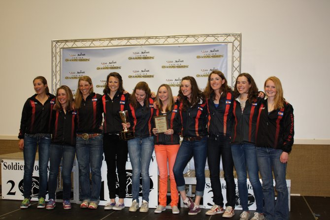 Members of the Steamboat Springs Winter Sports Club&#39;s girls cross-country program earned the honor of National High School Champion at a Junior Nationals Championship event in Utah last weekend. Members are, from left, Cara Piske, Gretchen Burkholder, Dori McNeill, Lucy Newman, Mary O&#39;Connell, Abbey Habermehl, Madison Keeffe, Haley Piske, Katie Brodie and Emily Hannah.