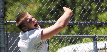 Garrett Spears, a Moffat County High School senior, brought home two top-eight individual finishes from this weekend, taking fifth in the shot put and seventh in the discus throw at Saturday's Boulder Invitational. The Bulldog throwers had yet to practice in a throwing ring before Friday, and Spears said work on his technique and speed will only improve his distances.