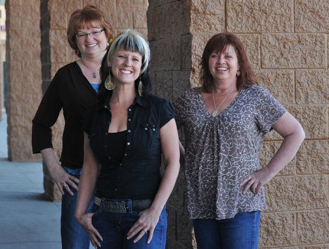 "Paula Lotz, Tara Chavarria and Leslie Bell (shown from left to right) will  be featured in ""Stories""  an event hosted by the Steamboat Christian Center's women's ministry Friday evening"