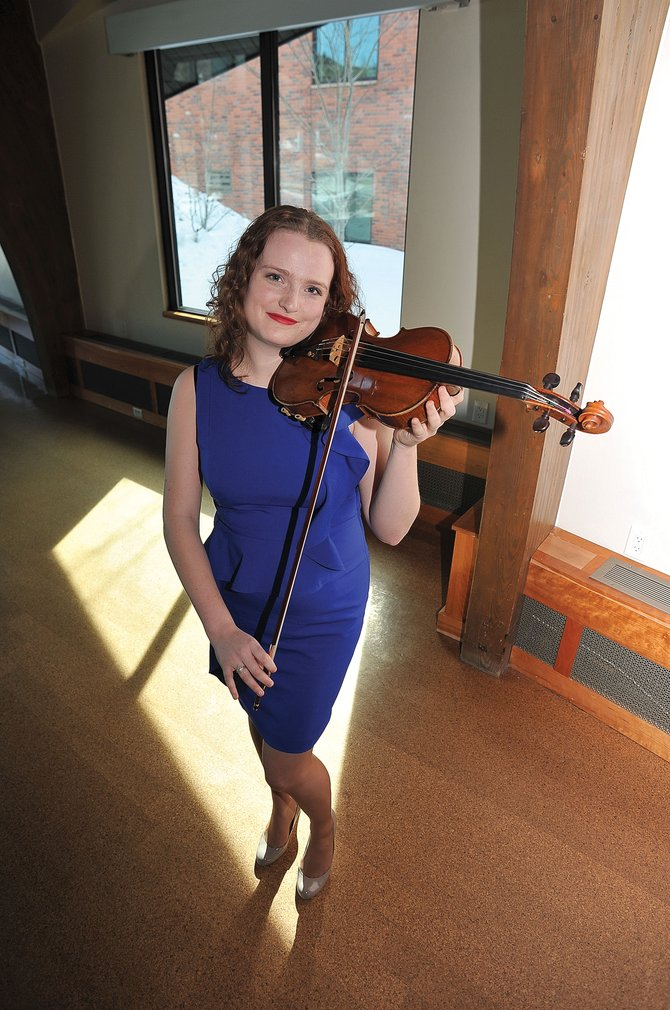 Violinist Anna Roder, a graduate of Steamboat Springs High School, returns home to give a concert at 4 p.m. Sunday at Library Hall at Bud Werner Memorial Library.