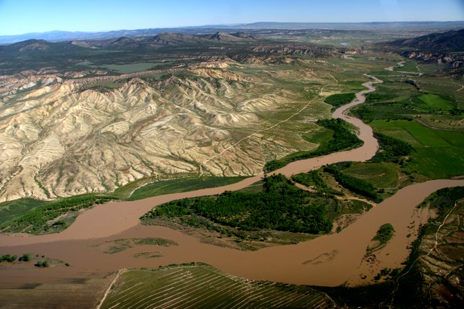 The Yampa River runs high in June 2011 at its confluence with the Little Snake River near Maybell. Friends of the Yampa will premiere a documentary Thursday night that chronicles the importance of the Yampa's annual swell.