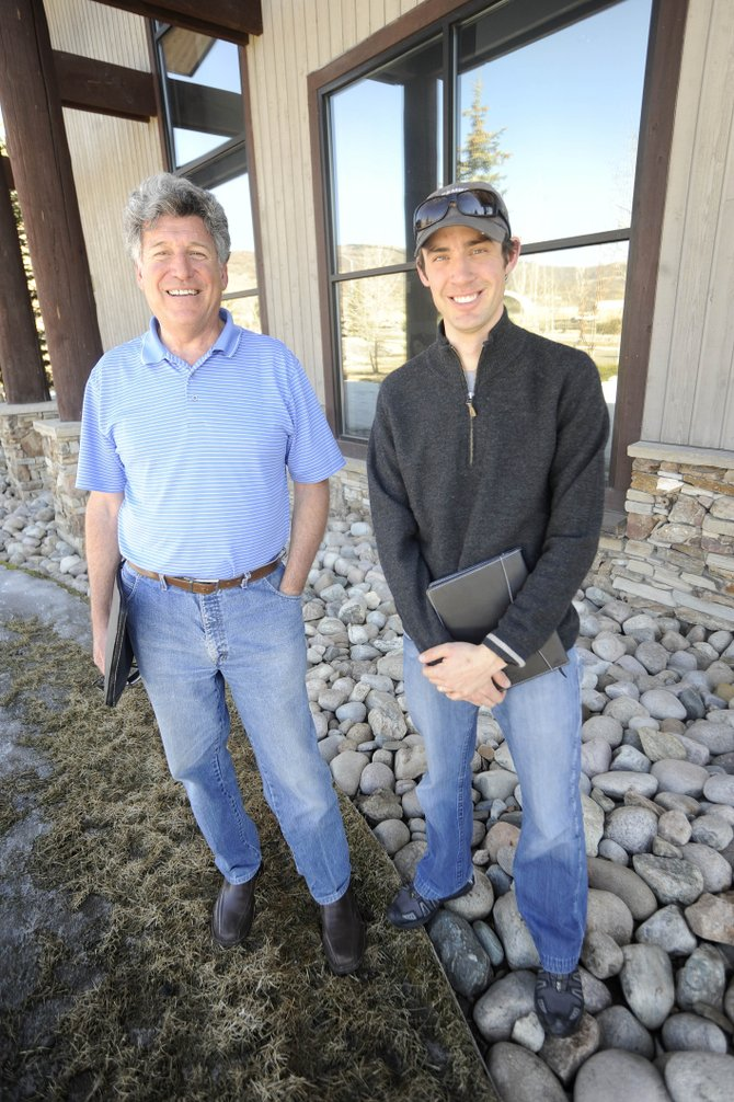 Steve Hofman, left, and Johnny Spillane are leading an effort to explore the viability of building a casino, hotel and entertainment venue near Yampa Valley Regional Airport. They are working with business partners Dave Marin, of Hayden, Hayden developer Stefanus Nijsten and his business partner Bob Zibel.