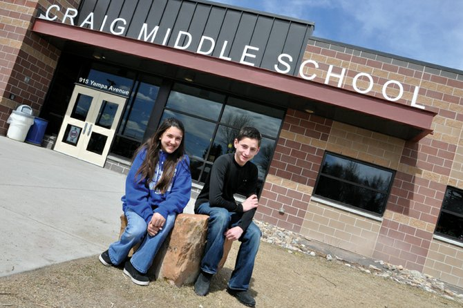 Craig Middle School eighth-graders Sheyenne Cromer, 13, and Jake Vallem, 14, earned first place in the Carol Jacobson Memorial Poetry Contest, an annual event named in honor of the late Craig resident who helped launch the contest about six years ago. A poetry reading and awards program for the contest will take place at 7 p.m. Monday at Downtown Books, 543 Yampa Ave.
