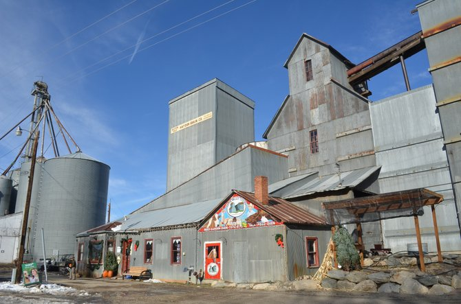 The historic Hayden Cooperative Elevator Co. buildings are the tallest landmarks in Hayden. Built in 1915, they have been granted local historic status by Routt County.