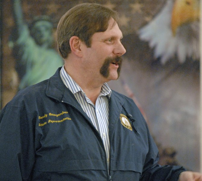 Colorado House District 57 Rep. Randy Baumgardner, R-Hot Sulphur Springs, was in Craig on Saturday to discuss issues during a Bears Ears Tea Party Patriots candidate forum at The Center of Craig. Baumgardner is running for Colorado State Senate in District 8. He addressed criticisms made by his opponent, incumbent State Sen. Jean White, R-Hayden, during the meeting.