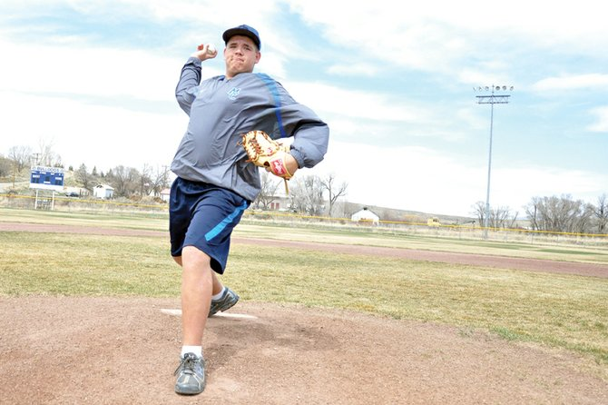 Ivan Nielsen, a Moffat County High School senior, became a starting pitcher for the first time in his high school career this season for the MCHS varsity baseball team. Nielsen said being a starting pitcher puts all the pressure on his shoulders, but he feels he put the work in so his team can rely on him.