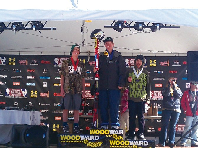 Logan Banning, left, finished second in the ski cross event at the USASA nationals event in Copper Mountain. Banning also finished third in half-pipe and fourth in slope-style, earning the first-place overall award.