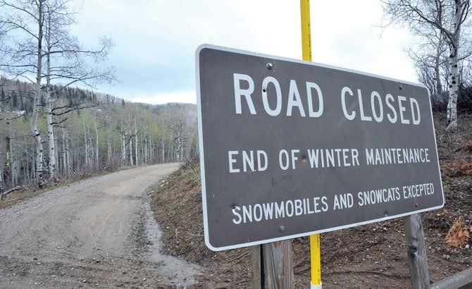 Many U.S. Forest Service roads, such as the road over Buffalo Pass, still are too wet to open.