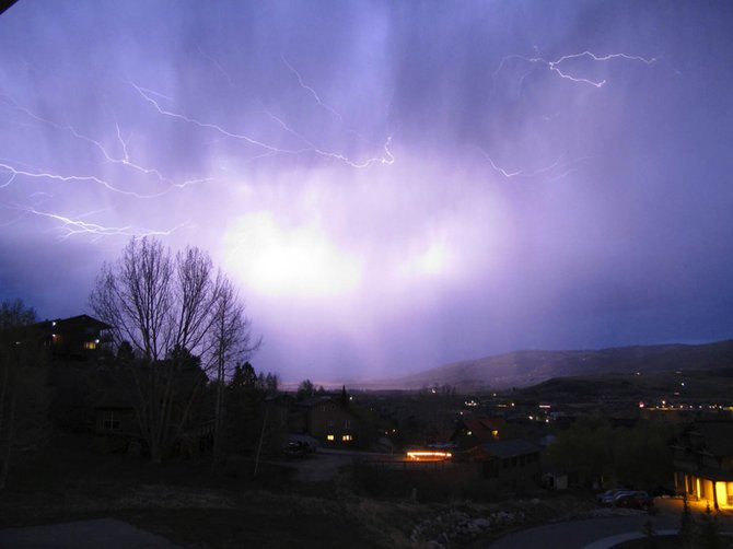 Steamboat Today reader Gabriel T. Rogers submitted this photo of lightning streaking across the sky Thursday night above Steamboat Springs. Do you have a photo to share? Send it to share@SteamboatToday.com.