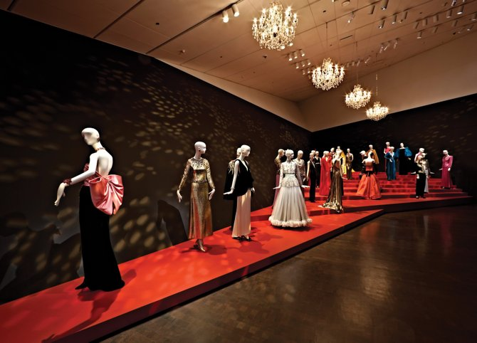 Yves Saint Laurent: The Retrospective exhibit is seen at the Denver Art Museum.