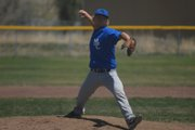 Moffat County High School junior Josh Pritchard closes out the first game of the MCHS varsity baseball team's doubleheader against Glenwood Springs. The Bulldogs lost the first of the two games, 18-1, in five innings.