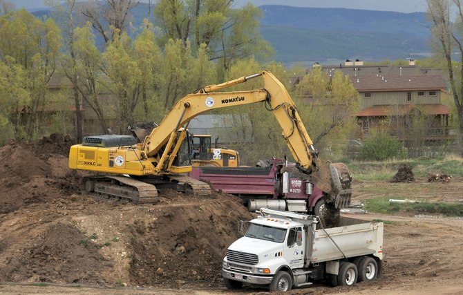 Crews from Native Excavating already have started working on building a new senior living center near Casey's Pond in Steamboat Springs.