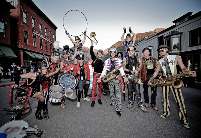 MarchFourth Marching Band is a festive visual and musical experience of circus arts and a powerful neo-marching band funk sound. The show is scheduled for Aug. 17.