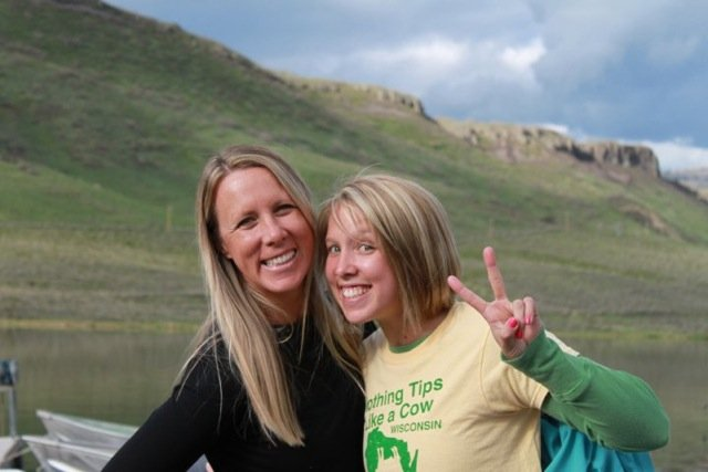 Mom & Me photo contest winner Tori Allen, with her mother Shawn, pose for a photo at Stagecoach Reservoir.