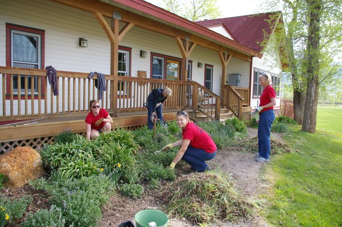 Yampa Valley Bank employees volunteer Wednesday at Humble Ranch Education and Therapy Center during the Routt County United Way Day of Caring.